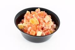 Bowl full of dried papaya Stock Photos