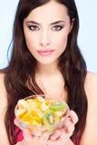 Bowl full of fruit Stock Photo