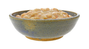 Bowl full of great northern beans Royalty Free Stock Photos