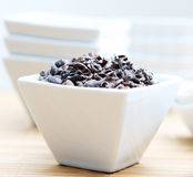 Healthy Raw Cacao Nibs Close Up Stock Photos