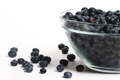 Bowl full with a lot of blueberries Royalty Free Stock Photo