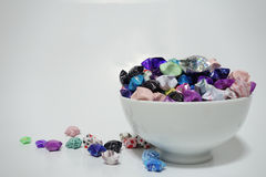 A bowl full of lucky stars Royalty Free Stock Photography