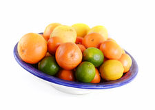Bowl full of mixed fruit Stock Photos