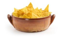 Bowl full of nachos Royalty Free Stock Image