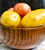Bowl full of new potatoes Stock Photos