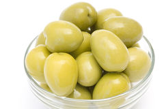 Bowl full of olives Stock Images