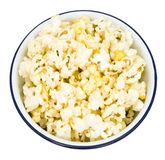 Bowl full of popcorn Royalty Free Stock Photo