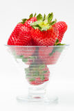 Bowl full of red strawberries Stock Photography