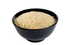 Bowl full of rice Stock Photography