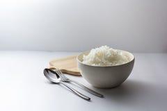 Bowl  full of rice. Stock Photo