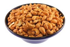 A bowl full of Roasted and Salted Cashew Nuts Royalty Free Stock Photo