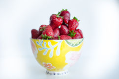 Bowl full of strawberries Stock Photos