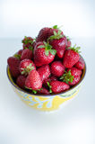 Bowl full of strawberries Royalty Free Stock Images