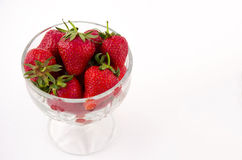 Bowl full with strawberrys Royalty Free Stock Photography