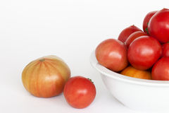 A bowl full of tomatoes Royalty Free Stock Image