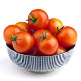 Bowl full of tomatoes Royalty Free Stock Photos
