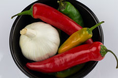 A Bowl of Garlic and Chilli Royalty Free Stock Photography