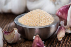 Bowl with Garlic Powder Royalty Free Stock Photo