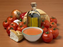 Bowl of gazpacho as done in Spain Stock Photo