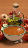 Bowl of gazpacho as done in Spain Royalty Free Stock Image