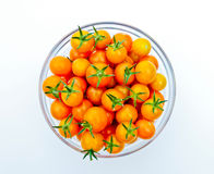 Bowl of Golden Cherry Tomatoes Royalty Free Stock Photos