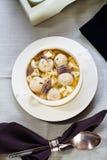 Bowl Of Gourmet  bone marrow dumplings Soup Royalty Free Stock Photography