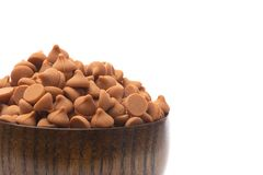 Bowl of Gourmet Butterscotch Baking Chips. A Bowl of Gourmet Butterscotch Baking Chips royalty free stock image