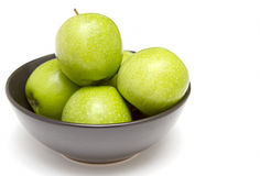 Bowl of granny smith apples Stock Photo