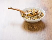 Bowl of Granola Stock Photos