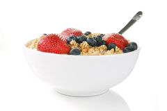 Bowl of granola stock images
