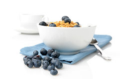 Bowl of granola with blueberries Stock Image