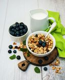 Bowl with granola Royalty Free Stock Image