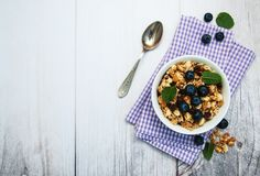 Bowl with granola Stock Image