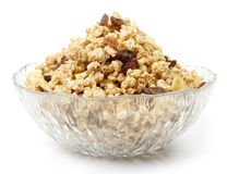 Bowl of granola or muesli Royalty Free Stock Photography