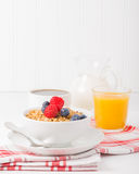 Bowl of Granola Portrait Royalty Free Stock Images