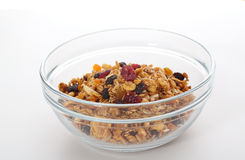 Bowl of granola Royalty Free Stock Image