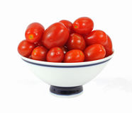 Bowl Grape Tomatoes Stock Photography