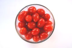Bowl of grape tomatoes Stock Image