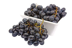 Bowl of grapes Stock Photos