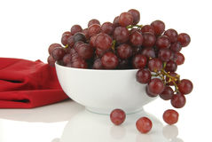 Bowl of grapes Royalty Free Stock Image