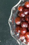 Bowl of grapes close up. Royalty Free Stock Images