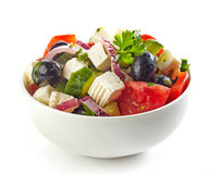 Bowl of greek salad Stock Photos