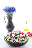Bowl with Greek salad, still life Stock Images
