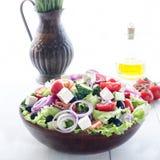 Bowl with Greek salad, still life Royalty Free Stock Image