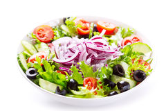 Bowl of greek salad Royalty Free Stock Images