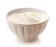 Bowl of greek yogurt Stock Image