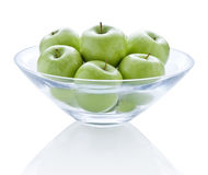 Bowl Green Apples Royalty Free Stock Images