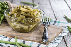 Bowl with Green Bean salad Stock Images