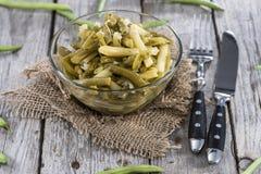 Bowl with Green Bean salad Royalty Free Stock Image