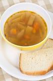 Bowl of green bean soup Stock Photo